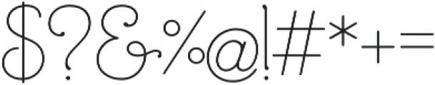 Mandevilla Regular otf (400) Font OTHER CHARS