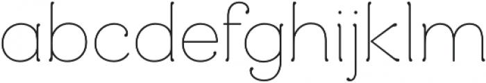 Mandevilla Regular otf (400) Font LOWERCASE