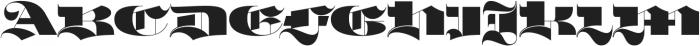 Mandinor Gothic FY otf (400) Font UPPERCASE