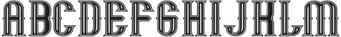 Mandon Vintage otf (400) Font UPPERCASE