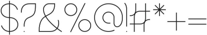 Mandorlato Extra Light otf (200) Font OTHER CHARS