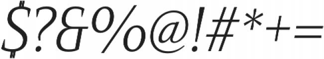 Mandrel Cond Light Italic otf (300) Font OTHER CHARS