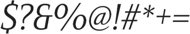 Mandrel Cond Regular Italic otf (400) Font OTHER CHARS