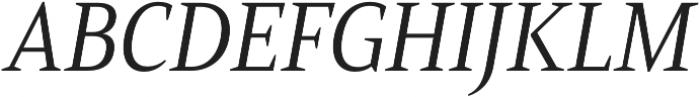 Mandrel Cond Regular Italic otf (400) Font UPPERCASE