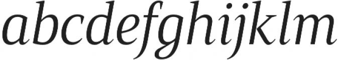 Mandrel Cond Regular Italic otf (400) Font LOWERCASE