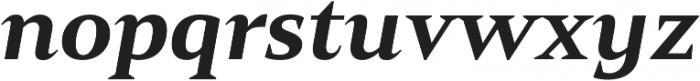 Mandrel Ext Black Italic otf (900) Font LOWERCASE