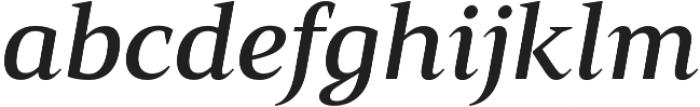 Mandrel Ext Demi Italic otf (400) Font LOWERCASE
