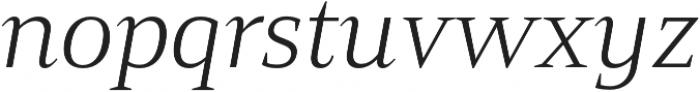 Mandrel Ext Light Italic otf (300) Font LOWERCASE