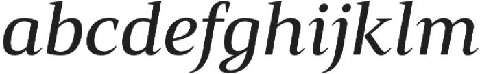 Mandrel Ext Medium Italic otf (500) Font LOWERCASE