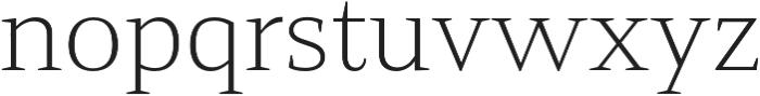 Mandrel Ext Thin otf (100) Font LOWERCASE