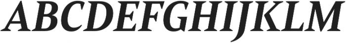 Mandrel Norm ExBold Italic otf (700) Font UPPERCASE