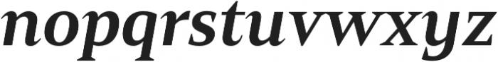 Mandrel Norm ExBold Italic otf (700) Font LOWERCASE