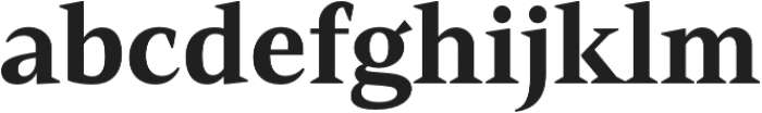 Mandrel Norm ExBold otf (700) Font LOWERCASE