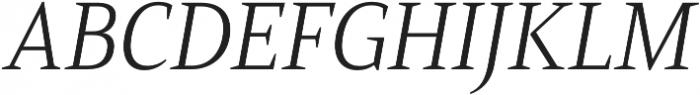 Mandrel Norm Light Italic otf (300) Font UPPERCASE
