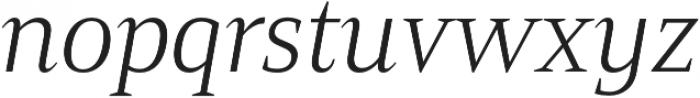 Mandrel Norm Light Italic otf (300) Font LOWERCASE