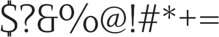 Mandrel Norm Light otf (300) Font OTHER CHARS