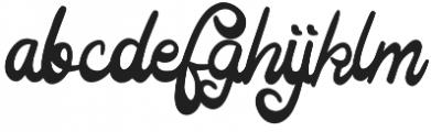 Manfet otf (400) Font LOWERCASE