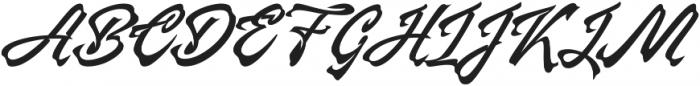 Manhattan Brush otf (400) Font UPPERCASE