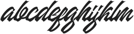 Manhattan Brush otf (400) Font LOWERCASE