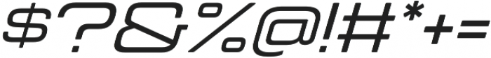 Manifold Extended CF Medium Oblique otf (500) Font OTHER CHARS