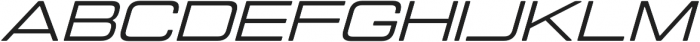 Manifold Extended CF Medium Oblique otf (500) Font UPPERCASE