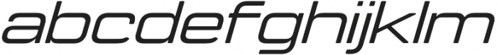 Manifold Extended CF Medium Oblique otf (500) Font LOWERCASE