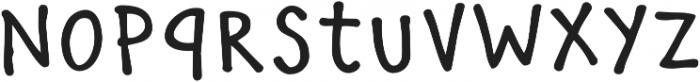 Manita Px Bold otf (700) Font LOWERCASE