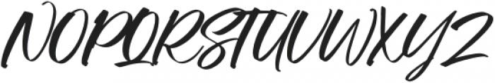Manstromer Slant otf (400) Font UPPERCASE