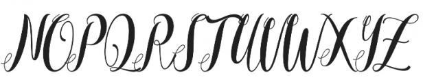 Mantana otf (400) Font UPPERCASE