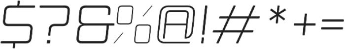 Manufaktur Italic Ultra Expanded Light otf (300) Font OTHER CHARS