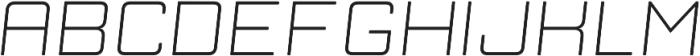 Manufaktur Italic Ultra Expanded Light otf (300) Font UPPERCASE