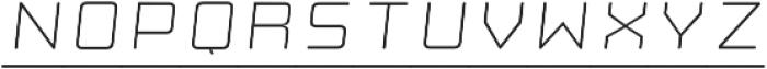 Manufaktur Italic Ultra Expanded Light otf (300) Font LOWERCASE