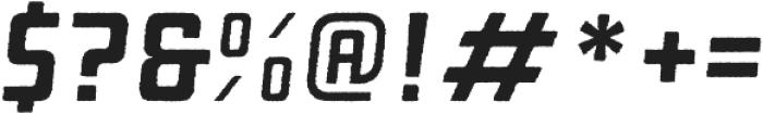 Manufaktur Rough Italic Bold otf (700) Font OTHER CHARS