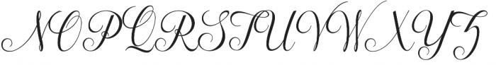 Maphylla Regular otf (400) Font UPPERCASE