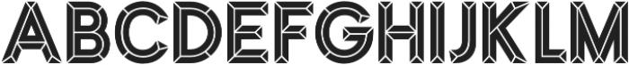 MarchInline otf (400) Font LOWERCASE