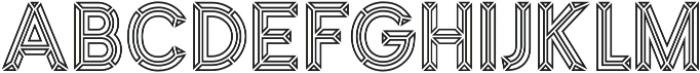 MarchOutline otf (400) Font UPPERCASE