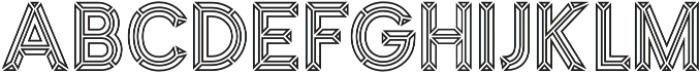 MarchOutline otf (400) Font LOWERCASE