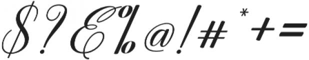Marchanda Script Slant Regular otf (400) Font OTHER CHARS