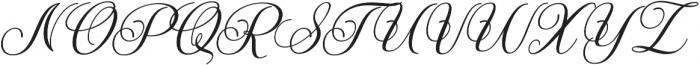 Marchanda Script Slant Regular otf (400) Font UPPERCASE