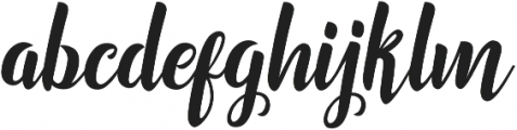 Marchelina Script otf (400) Font LOWERCASE