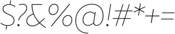 Marcher Alt Extrathin Italic otf (100) Font OTHER CHARS