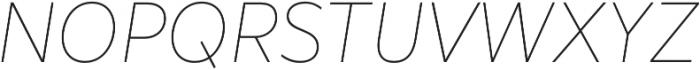 Marcher Alt Extrathin Italic otf (100) Font UPPERCASE