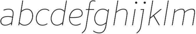 Marcher Alt Extrathin Italic otf (100) Font LOWERCASE