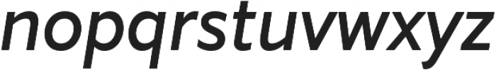 Marcher Alt Regular Italic otf (400) Font LOWERCASE