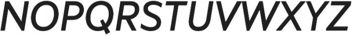 Marcher Regular Italic otf (400) Font UPPERCASE