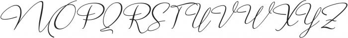 Marellia Script Italic otf (400) Font UPPERCASE