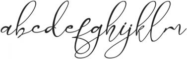 Marellia Script Italic otf (400) Font LOWERCASE