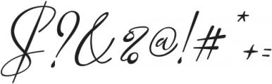 Marellia Script Italic ttf (400) Font OTHER CHARS