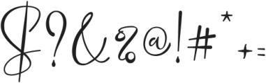 Marellia Script otf (400) Font OTHER CHARS