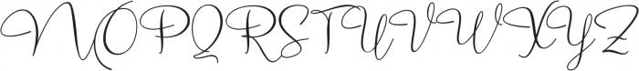 Marellia Script otf (400) Font UPPERCASE